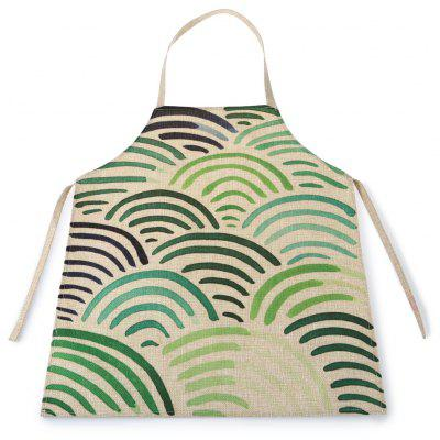 Arc-shaped Waterproof Durable Comfortable Apron with Adjustable Strip for Kids