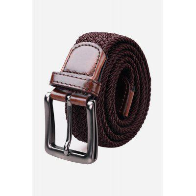 Men Casual Braided Belt with Pin Buckle