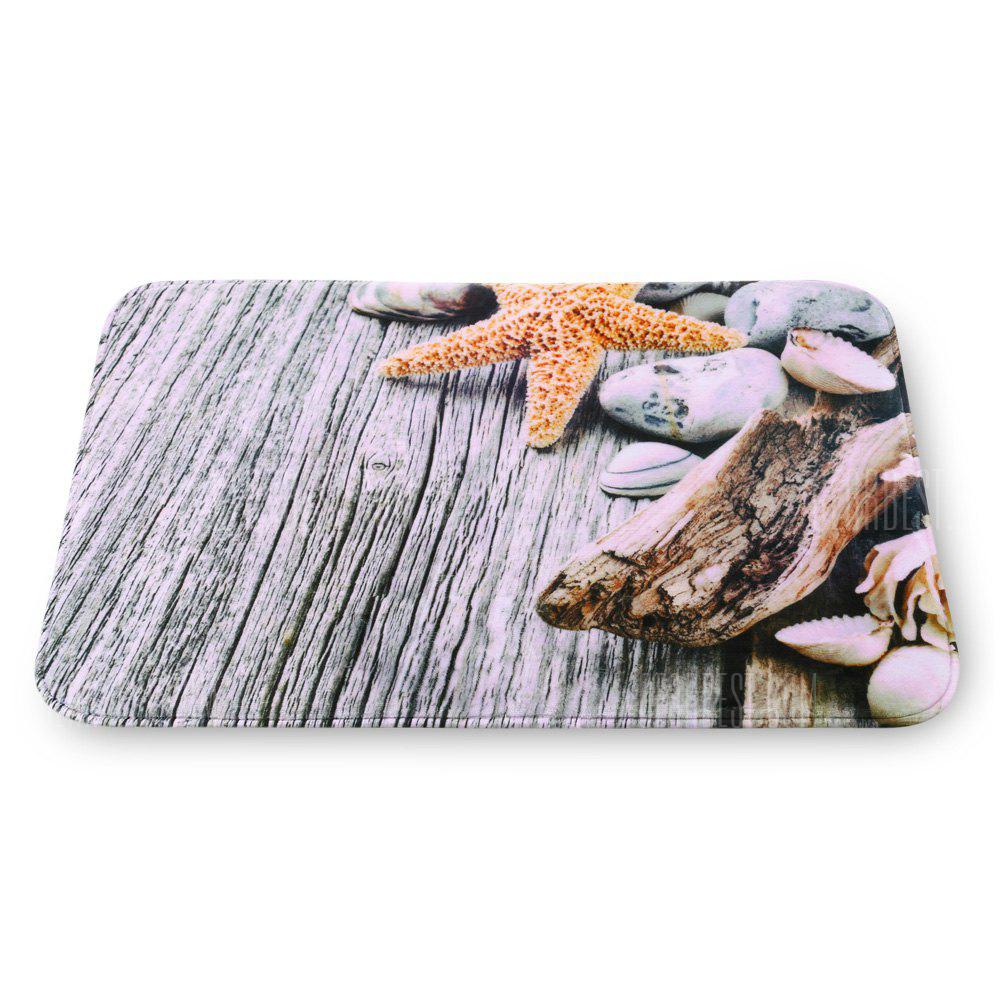 Starfish Flannel Doormat Rug Mat