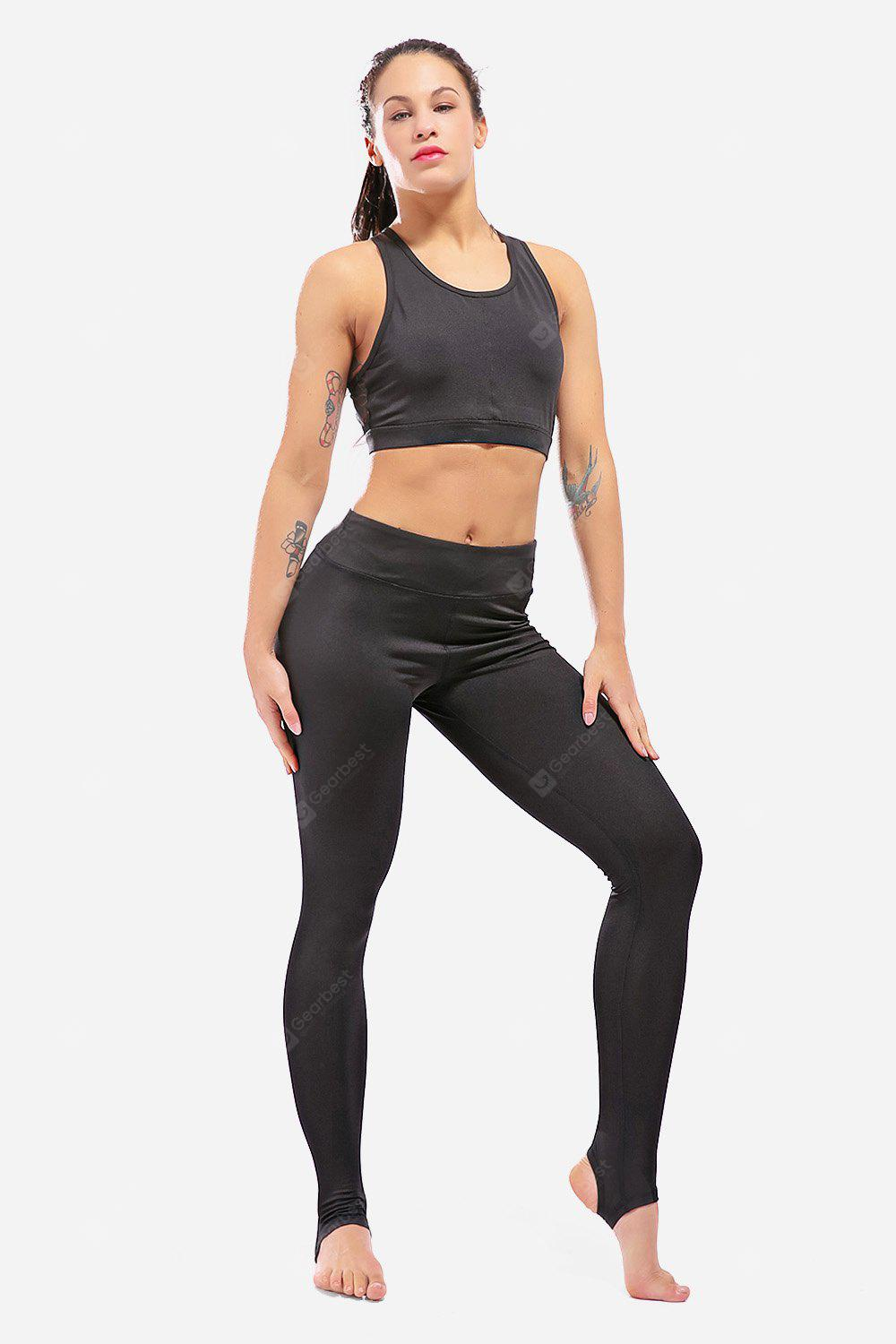 Elastic Foot Tights Leggings High Waist Female Workout Stirrup Pants