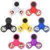 LED Happy Face Tri-blade Fidget Spinner Focus Toy - PURPLE