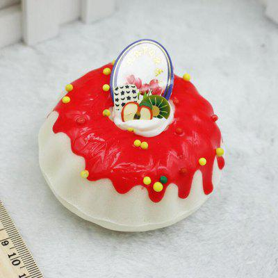 Realistic Round Cream Cake PU Squishy Toy Model
