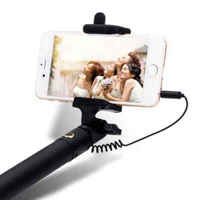 Foldable Selfie Stick MonopodStands &amp; Holders<br>Foldable Selfie Stick Monopod<br><br>Clip Holder Range: 55 - 85mm<br>Extended Length: 80cm<br>Features: With Cable<br>Folding Length: 18.8cm<br>Material: Stainless Steel<br>Package Contents: 1 x Selfie Stick<br>Package size: 20.00 x 5.00 x 4.00 cm / 7.87 x 1.97 x 1.57 inches<br>Package weight: 0.2200 kg<br>Product size: 18.80 x 4.00 x 3.00 cm / 7.4 x 1.57 x 1.18 inches<br>Product weight: 0.2000 kg