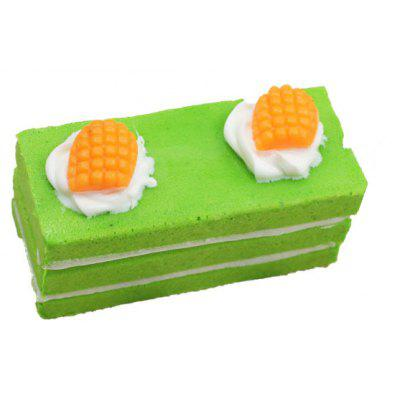 Buy GREEN Realistic Rectangular Cake PU Foam Squishy Toy for $2.56 in GearBest store
