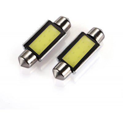 39MM 3W 12V 6000K 160LM Car Festoon COB Lamp - 2pcs