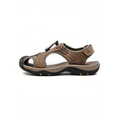Summer Outdoor Beach Cowhide Leather Men SandalsMens Sandals<br>Summer Outdoor Beach Cowhide Leather Men Sandals<br><br>Contents: 1 x Pair of Sandals<br>Materials: Leather<br>Occasion: Casual<br>Package Size ( L x W x H ): 33.00 x 22.00 x 11.00 cm / 12.99 x 8.66 x 4.33 inches<br>Package Weights: 0.870kg<br>Product Size  ( L x W x H ): 33.00 x 22.00 x 11.00 cm / 12.99 x 8.66 x 4.33 inches<br>Seasons: Autumn,Spring,Summer<br>Style: Leisure, Fashion, Comfortable<br>Type: Sandals