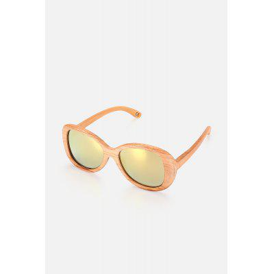 BEDATE Aviator-style Wood Frame Polarized Sunglasses