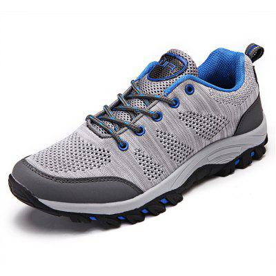 Buy GRAY Breathable Lace-up Men Outdoor Hiking Shoes for $32.79 in GearBest store