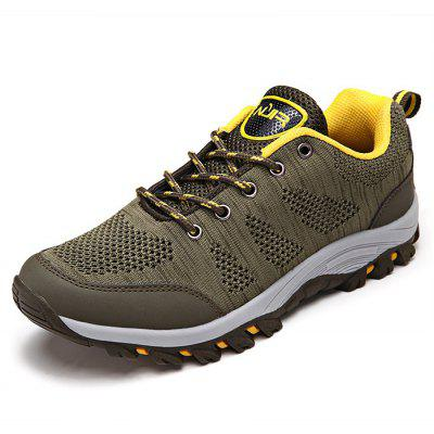 Buy ARMY GREEN Breathable Lace-up Men Outdoor Hiking Shoes for $32.79 in GearBest store