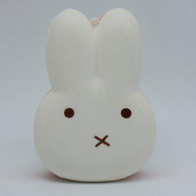 Buy WHITE Cute Rabbit Macaron Soft PU Foam Squishy Toy for $5.25 in GearBest store