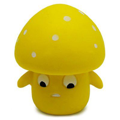 Buy YELLOW Cartoon Mushroom Ultra Soft PU Foam Squishy Toy for $4.35 in GearBest store