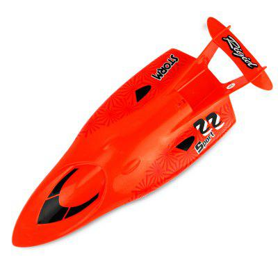 CREATE TOYS 3322 2.4GHz Brushed RC Boat - RTRRC Boats<br>CREATE TOYS 3322 2.4GHz Brushed RC Boat - RTR<br><br>Age: Above 14 years old<br>Boat/Ship Power: Built-in rechargeable battery<br>Brand: CREATE TOYS<br>Charging Time: About 2 hours<br>Detailed Control Distance: 25~30m<br>Features: Radio Control<br>Material: Metal, Electronic Components, Plastic<br>Mode: Mode 2 (Left Hand Throttle)<br>Package Contents: 1 x RC Boat ( Battery Included ), 1 x Transmitter, 1 x USB Cable, 2 x Spare Propeller, 1 x English Manual<br>Package size (L x W x H): 46.00 x 17.50 x 22.50 cm / 18.11 x 6.89 x 8.86 inches<br>Package weight: 1.0500 kg<br>Product size (L x W x H): 33.00 x 12.50 x 6.50 cm / 12.99 x 4.92 x 2.56 inches<br>Product weight: 0.8200 kg<br>Remote Control: 2.4GHz Wireless Remote Control<br>Transmitter Power: 2 x AA battery (not included)<br>Type: RC Boats