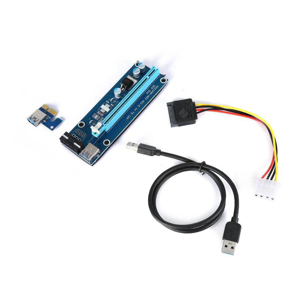 Pci Express 1x To 16x Riser Card With Usb 30 Data Cable 786 E Vga