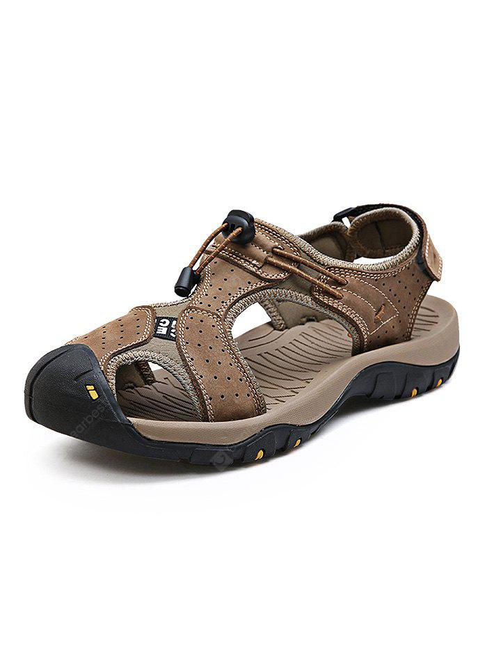 Verão Outdoor Beach Cowhide Leather Men Sandals