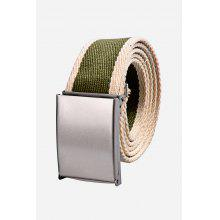 Douguyan Men Canvas Belt with Toothed Buckle