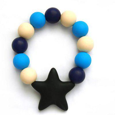 Baby Infant Silicone Teether Bracelet Soft Chewable Ring Soothing Pain Relief