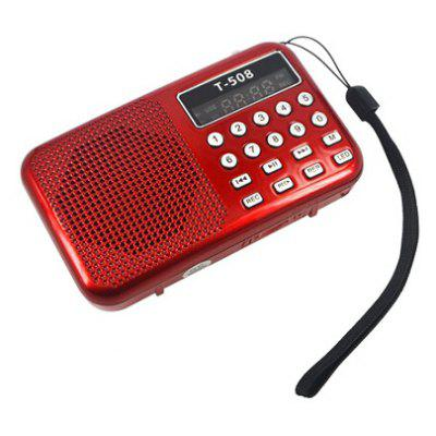 T508 Mini Portable FM Radio Speaker