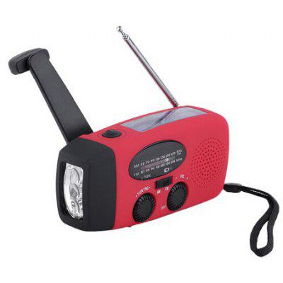 Portable Hand Crank Flashlight