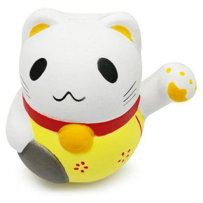 Buy YELLOW Cute Fortune Cat Ultra Soft PU Foam Squishy Toy for $5.87 in GearBest store