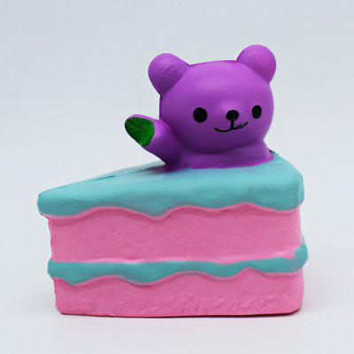 Buy PURPLE Cute Bear Cream Cake PU Foam Squishy Toy for $5.80 in GearBest store
