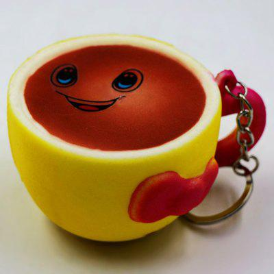Buy YELLOW Cute Smiling Coffee Soft PU Foam Squishy Toy for $3.68 in GearBest store
