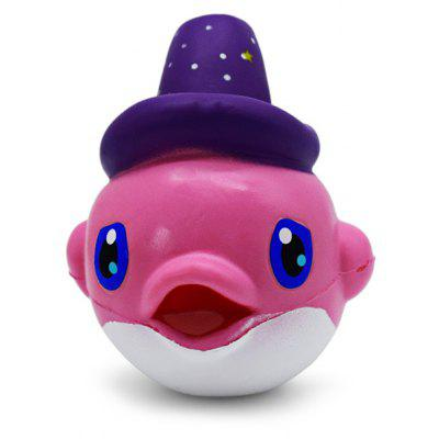 Buy PINK Cute Cartoon Dolphin Soft PU Foam Squishy Toy for $7.97 in GearBest store