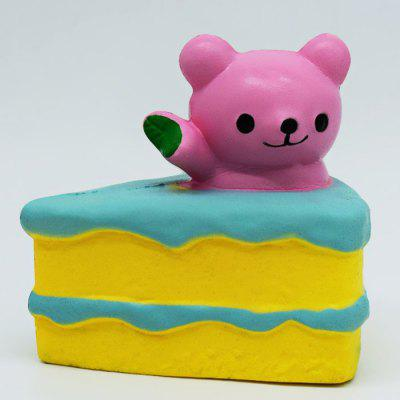 Buy PINK Cute Bear Cream Cake PU Foam Squishy Toy for $5.80 in GearBest store