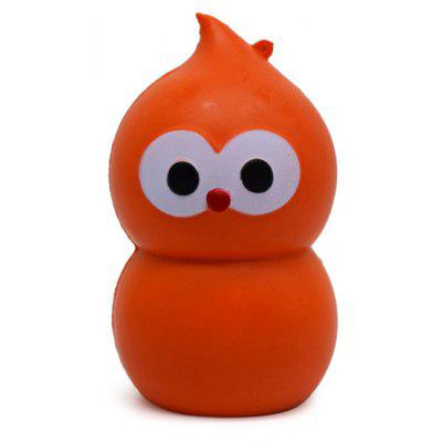 Cartoon Gourd Owl Soft PU Foam Squishy Toy