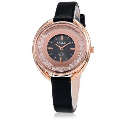 KALEIR B8318 Fashion Leather Strap Watch for Women