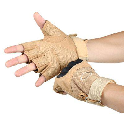 Pair of Male Half-finger Protective Cycling Tactical Sports Gloves