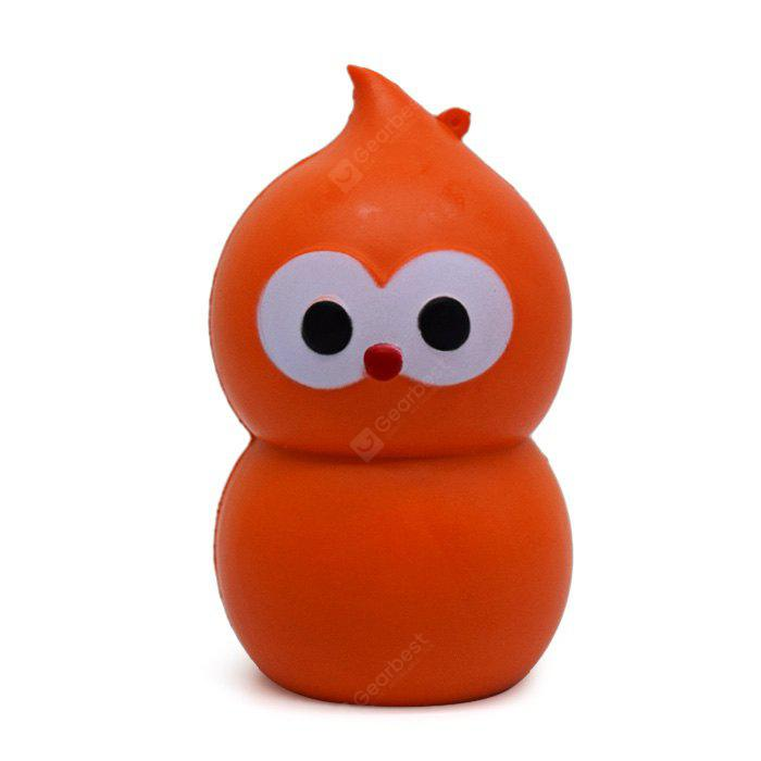 Cartoon Gourd Owl Soft PU Foam Jumbo Squishy Toy