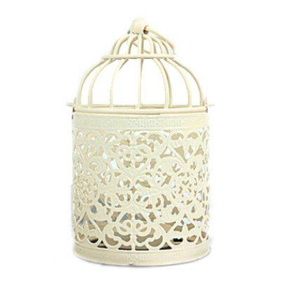Novelty Candlestick Hollow-out Bird Cage