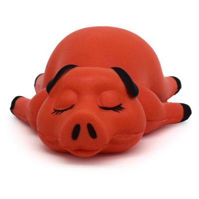 Cartoon Sleeping Pig Soft PU Foam Squishy Toy