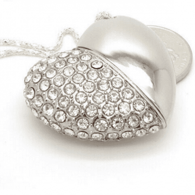 Crystal Love Heart USB Flash Drive Memory Stick