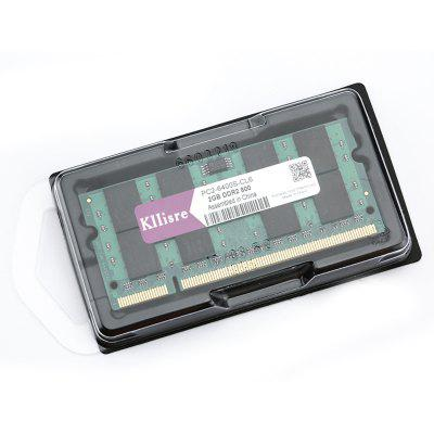 Kllisre PC2 - 6400S - CL6 2GB DDR2 800MHz MemoryMemory Modules<br>Kllisre PC2 - 6400S - CL6 2GB DDR2 800MHz Memory<br><br>Application: Laptop<br>Capacity: 2GB<br>Memory Frequency: 800MHz<br>Memory Transmission Type: DDR2<br>Package Contents: 1 x Kllisre PC2 - 6400S - CL6 2GB DDR2 800MHz Memory<br>Package Size(L x W x H): 10.00 x 5.00 x 2.00 cm / 3.94 x 1.97 x 0.79 inches<br>Package weight: 0.0550 kg<br>Product Size(L x W x H): 9.00 x 4.00 x 1.00 cm / 3.54 x 1.57 x 0.39 inches<br>Product weight: 0.0200 kg