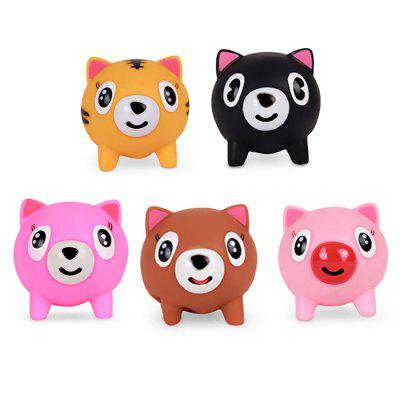 Cute Screaming Squishy Cartoon Animal Rubber Toy 24styles colorful kid wooden animals cartoon picture puzzle educational toys games for children new year gifts tf0129