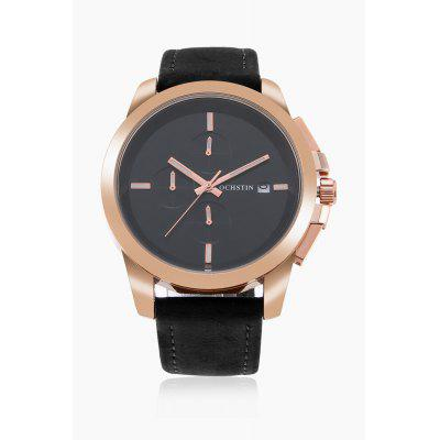 Men Quartz Watch 45mmMens Watches<br>Men Quartz Watch 45mm<br><br>Band material: Genuine Leather<br>Band size: 25.5 x 2cm<br>Case material: Stainless Steel<br>Clasp type: Pin buckle<br>Dial size: 4.5 x 4.5 x 1cm<br>Display type: Analog<br>Movement type: Quartz watch<br>Package Contents: 1 x Watch, 1 x Box<br>Package size (L x W x H): 16.00 x 8.00 x 5.00 cm / 6.3 x 3.15 x 1.97 inches<br>Package weight: 0.1600 kg<br>Product size (L x W x H): 25.50 x 4.50 x 1.00 cm / 10.04 x 1.77 x 0.39 inches<br>Product weight: 0.0730 kg<br>Shape of the dial: Round<br>Special features: Working sub-dial, Date<br>Watch style: Fashion<br>Watches categories: Men<br>Water resistance: Life water resistant<br>Wearable length: 19 - 23cm