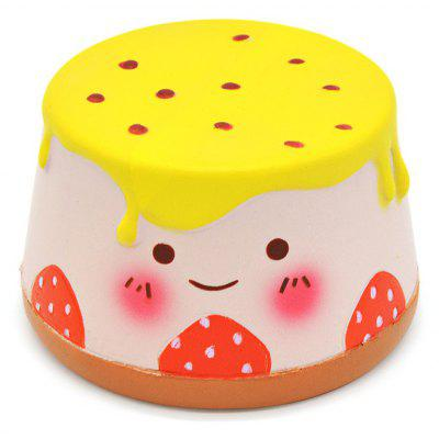 Buy YELLOW Cute Cartoon Pudding Soft PU Foam Squishy Toy for $11.79 in GearBest store