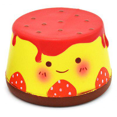 Buy RED Cute Cartoon Pudding Soft PU Foam Squishy Toy for $11.79 in GearBest store