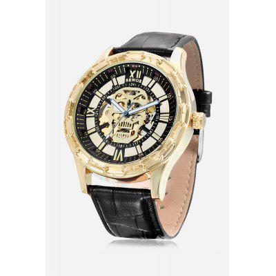 Skull Hollow-out Men Auto Mechanical Watch