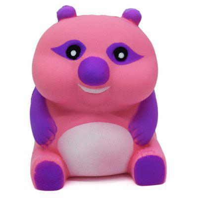 Buy PINK AND PURPLE Cartoon Sitting Bear Soft PU Foam Squishy Toy for $6.36 in GearBest store