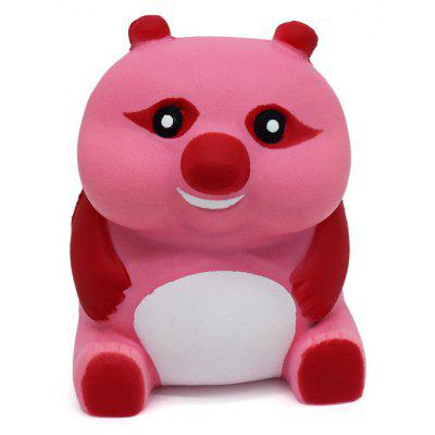Buy RED AND PINK Cartoon Sitting Bear Soft PU Foam Squishy Toy for $6.36 in GearBest store