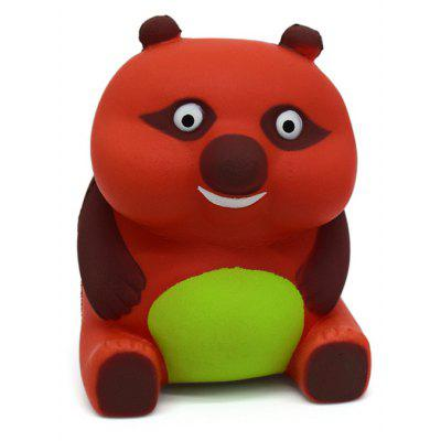 Buy RED Cartoon Sitting Bear Soft PU Foam Squishy Toy for $6.36 in GearBest store