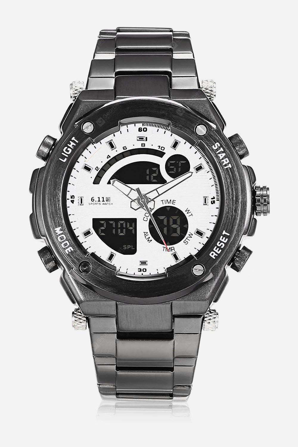Stainless Steel Strap 2-movt Men Watch