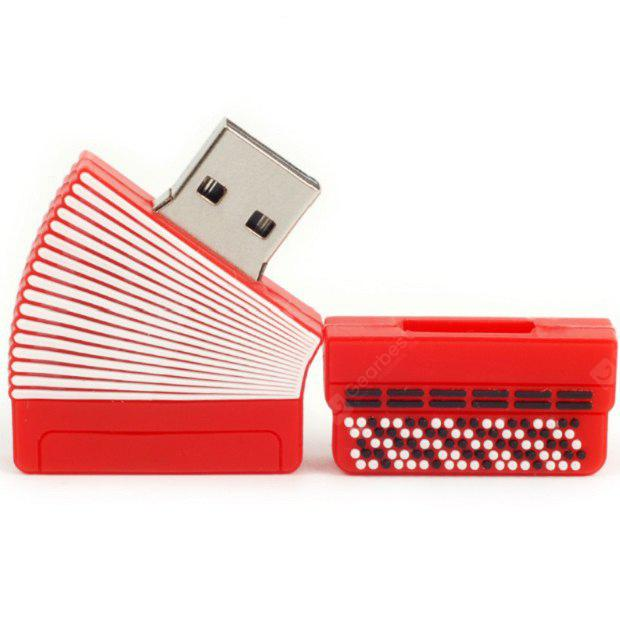 Buy Musical Instrument USB Flash Drive Memory Stick Mini U Disk 32G RED AND WHITE