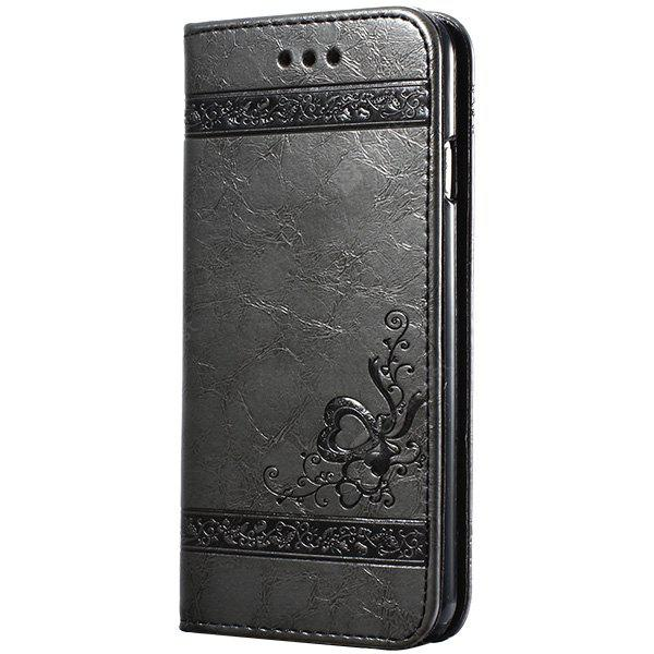 Flower Embossing PU Leather Mobile Case Cover Protector for iPhone 7 Plus