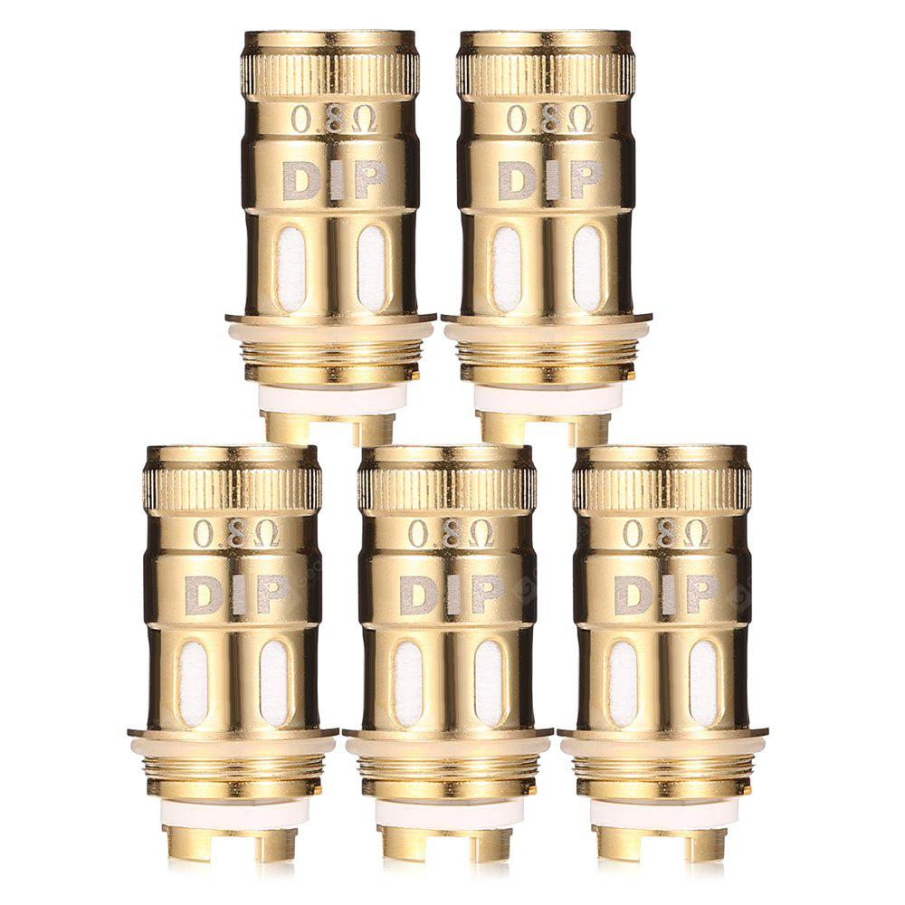 GOLDEN 5pcs 0.8 ohm Rebuildable Coil for VapeCige DIP Tank