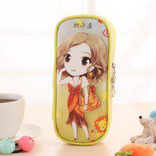 Creative Leo Pattern High Capacity Storage Stationery Pen Bag