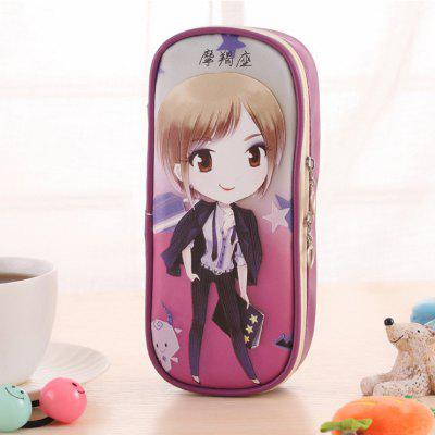 Capricorn Pattern High Capacity Storage Stationery Pen Bag