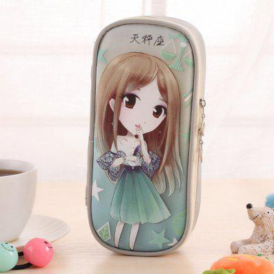 Libra Pattern High Capacity Storage Stationery Pen Bag